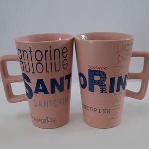 Santorini Coffee Mugsx2
